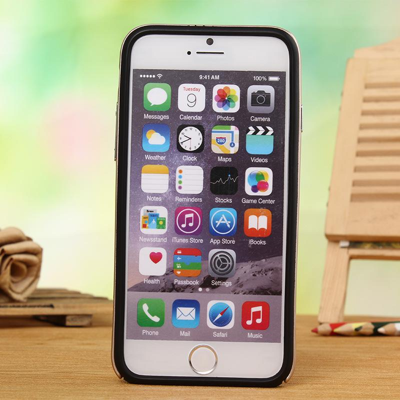 Plastic Frame Bumper 360 Degree Protect for iPhone 6 6s Soft TPU Case Back Covers