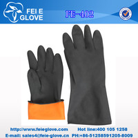 cheap SUN brand black industrial latex safety gloves