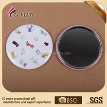 promotion custom tin pocket mirror round mirror