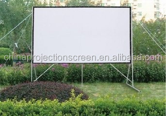 Easily assembly outdoor projection screen , Fast fold screens for Front and rear projection