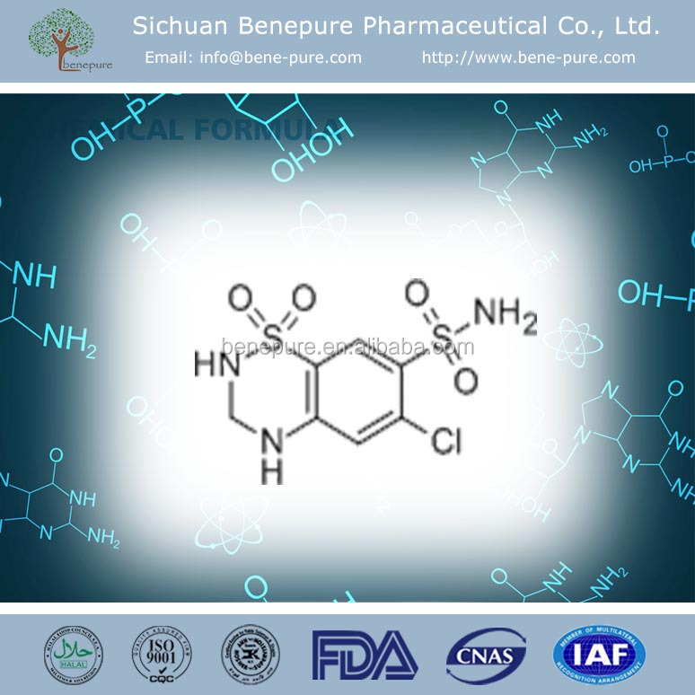 China hotsale hypotensive drugs CAS# 58-93-5 Hydrochlorothiazide supplier