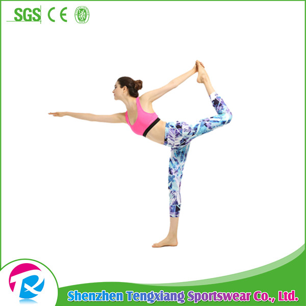 2017 Latest Women Lycra Spandex Custom Fitness Bamboo Yoga Pants