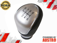 6 Speed Leather Gear Shift Knob for Ford Focus MK2 MK3