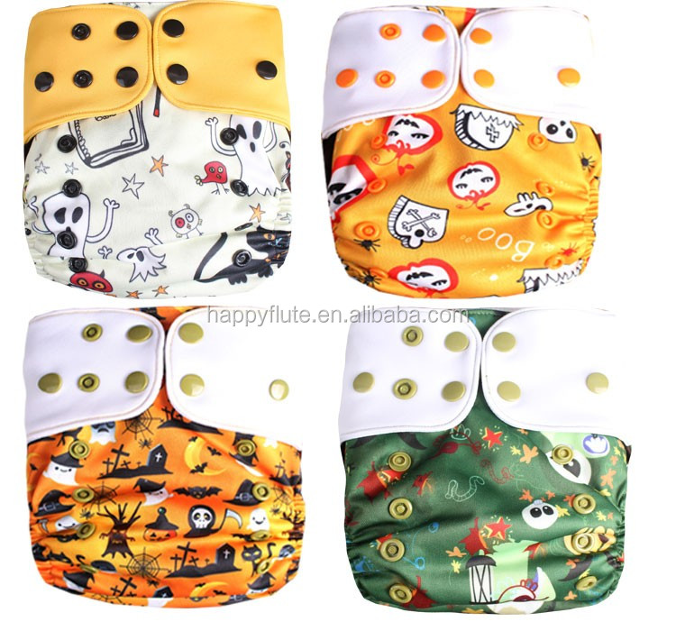 halloween print baby cloth diaper happyflute reusable wholesale hybrid fabric wholesale