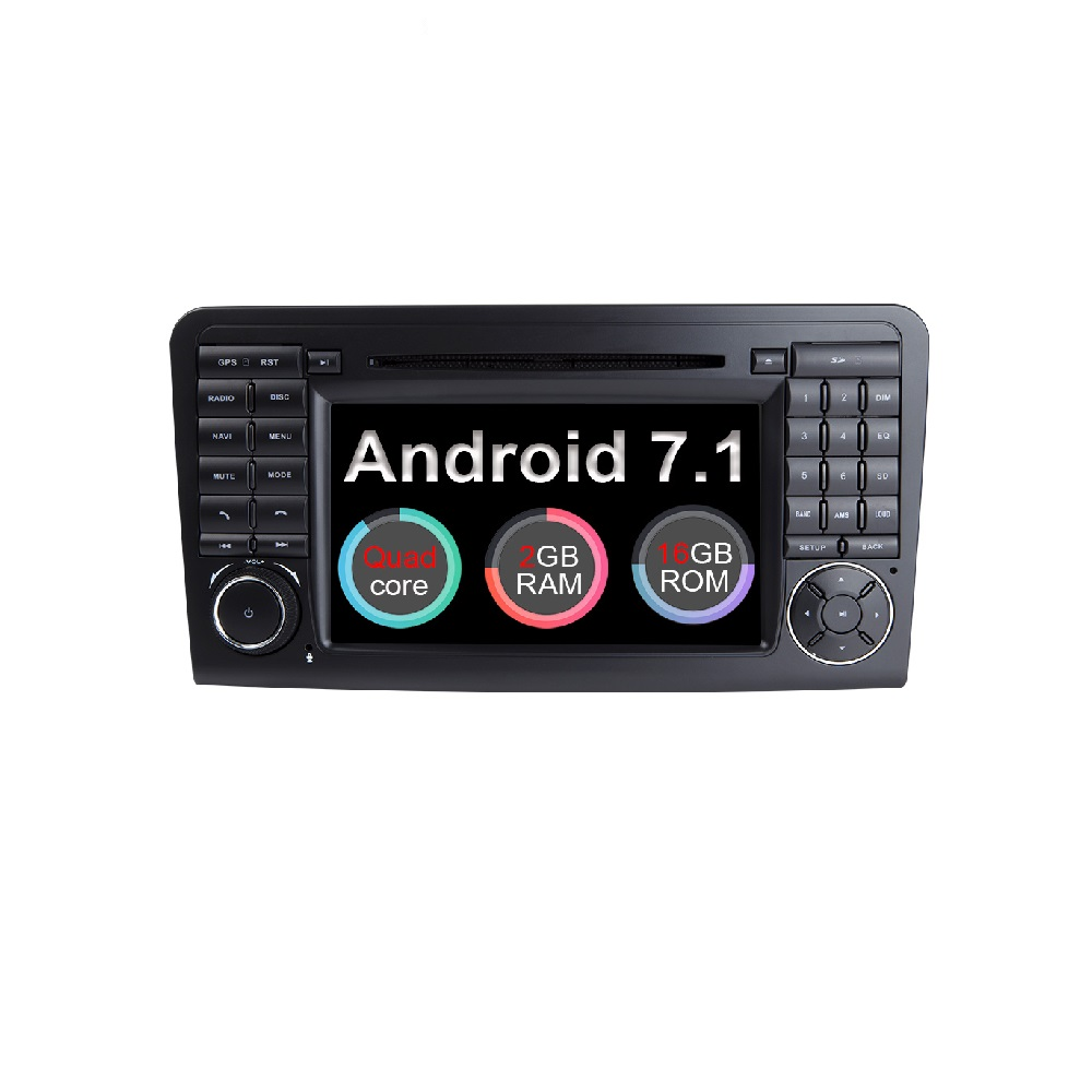 Eunavi <strong>Android</strong> 7.1 WiFi GPS Navi Quad Core Blotooth Stereo Car DVD Player For Benz ML CLASS <strong>W164</strong> ML300 ML350 ML450 ML500