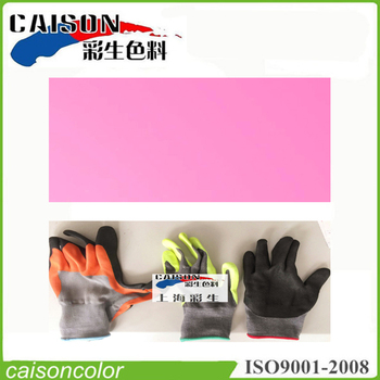 Pink printing and dyeing for insulation gloves