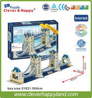 3D Puzzle Tower Bridge 3D Models Famous Buildings Super 3D Puzzle Paper