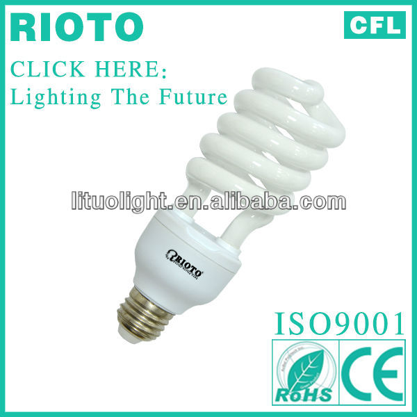 China Hangzhou Price lamp Half spiral cfl/energy saving light bulb CE/GS/ROHS