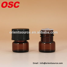 1ml glass vials , empty glass dram vial with plastic cap for sale , glass bottles
