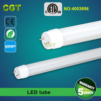 120lm/w T8 LED tube 1500mm 5 years warranty CE RoHS approved