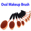 Professional Synthetic Hair Oval Makeup Brush Rose Gold, Makeup Tool Kits
