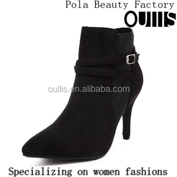 2016 China women boots high heel ankle boots black and beige boots PC4025
