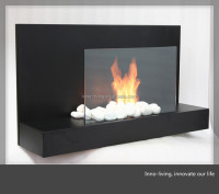 free standing bio gel fireplace