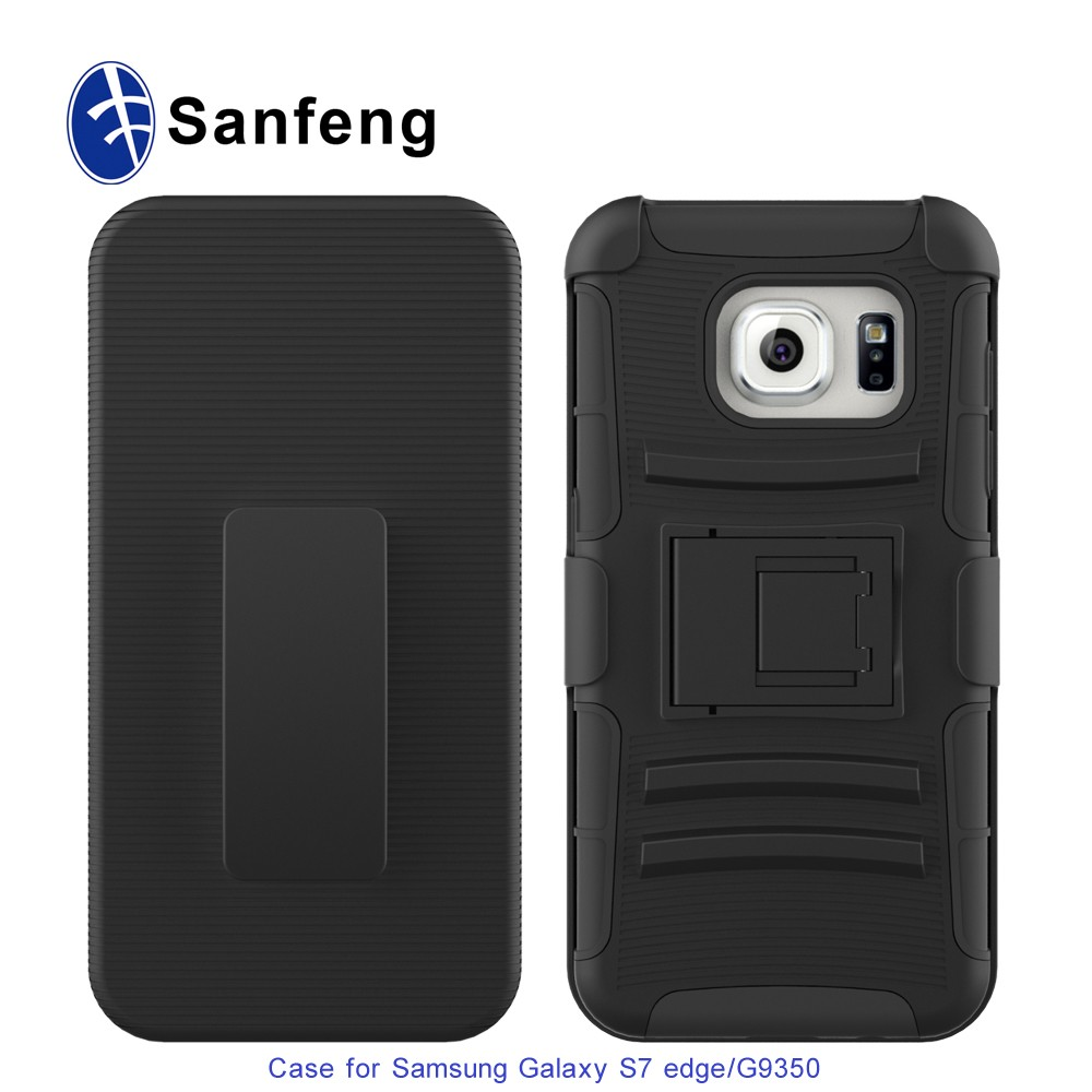 Multifunction black phone case for Samsung G935/Galaxy S7 Edge