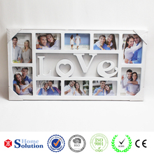 2015 new SGS classic photo frame, 10 holes black/white love photo frame, best quantity plastic photo frame photo frame
