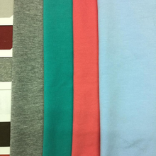 Factory supply Custom 95% cotton 5% spandex single jersey knitted fabric for t-shirt