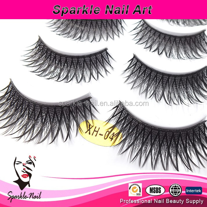 2017 Soft new design mink fur false eyelashes real 3D eye lashes mink with custom packaging