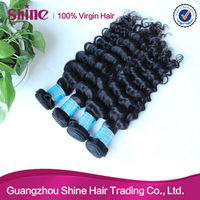 top quality guangzhou queen hair products virgin deep wave weft