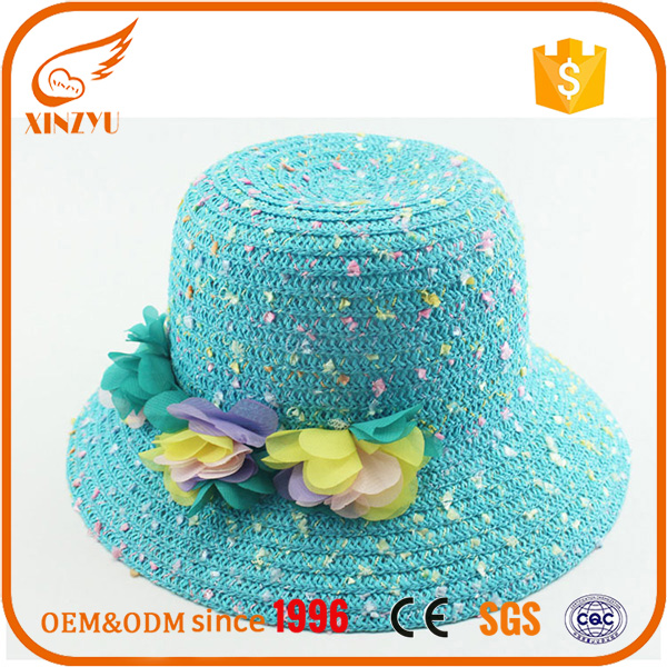Flower decoration top selling products 2016 panama lady hat straw hats
