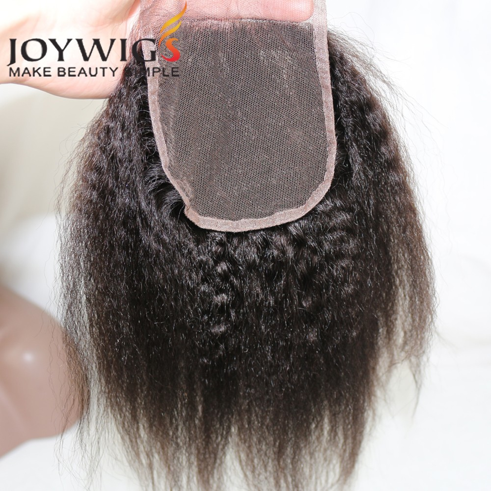 "Instock 3.5x4 Kinkys Straight Lace Closure 8""-24"" Human Hair Cheap Lace Closure Remy Lace Front Closures With Baby Hair"