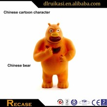 Vinyl toy, plastic animal toys for kids, custom vinyl bear toys