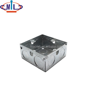 UL Listed Galvanized Steel Metallic Electrical 3X3 Junction Box Outlet box