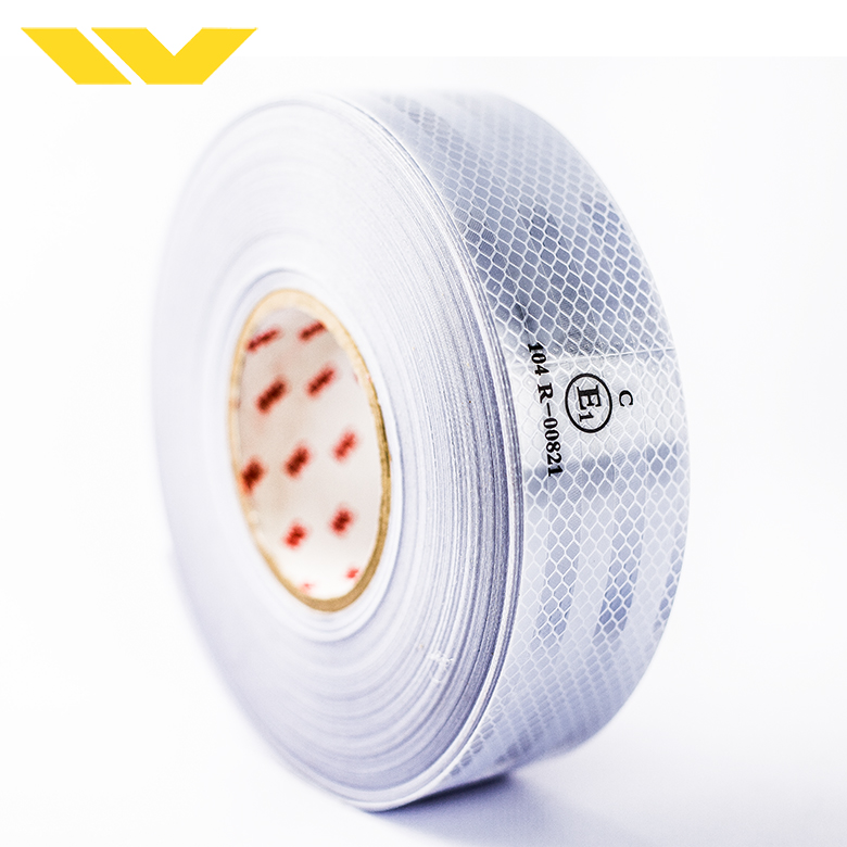 White color retro pet infrared ece 104r 00821 reflective tape for vehicle