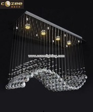 Contemporary Spiral Crystal Hanging Chandeliers Lighting Ceiling Pendant Lamps Light Fixtrure CZ8050/4