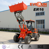 Everun Brand New Design ER16 Small Snow Bucket Wheel Loader With Floating Function