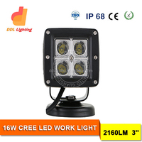 New hot led headlamp 12v 24v 16w 3'' led work light ip68 car head lamp with Emark,CE,ROHS
