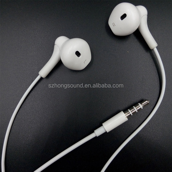 High Quality stereo earphone 1.2M length TPE cable wired In-Ear Earphone for iPhone Android