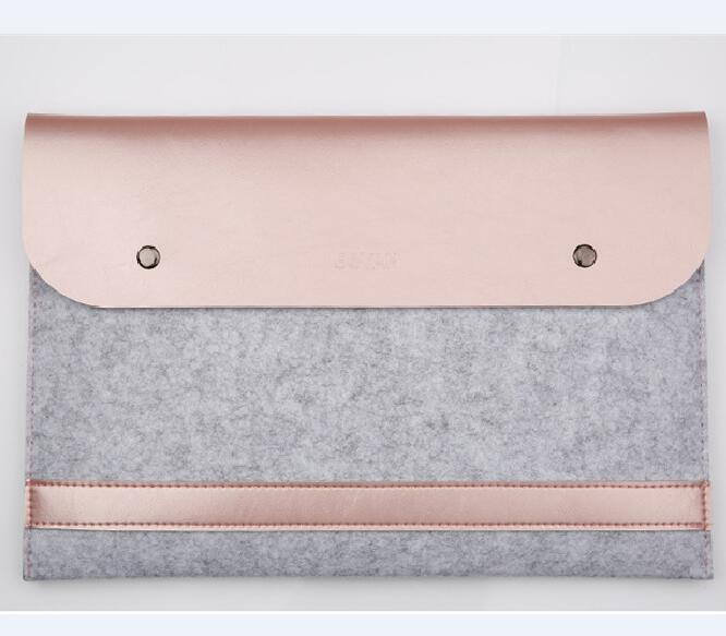 Boshiho Newest Best Quality Felt PU Protect Pouch Case for Macbook Wholesale