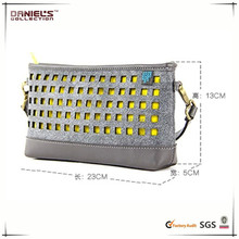 mix color hollow out ladys' sigle shoulder bags hand bags