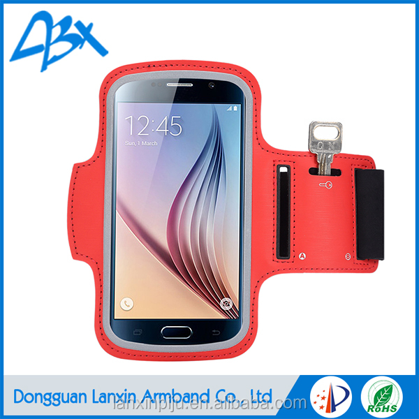 Sport Gym Running Armband Case;Red mobile phone accessories for Samsung Galaxy S7