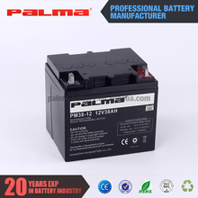 Made in china 12V 38ah new arrival flat top storage battery