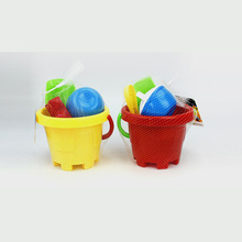 Plastic Factory Price Beach Toy Sand Bucket With Tools And Molds For Kids