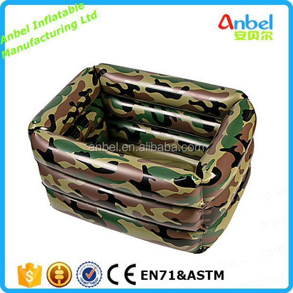 Inflatable Floating Cooler Bar , camo box cooler , camouflage cooler
