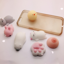 3D Cute Soft Silicone Squishys Phone Case