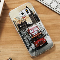 For Samsung galaxy S6 S6 edge soft tpu mobile phone case with Printing