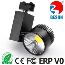 LED Track Light Type and Aluminum Alloy Lamp Body Material spot on rail