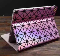 Fashion Bling Laser Diamond Flip Leather Case Cover For Apple iPad 2 3 4