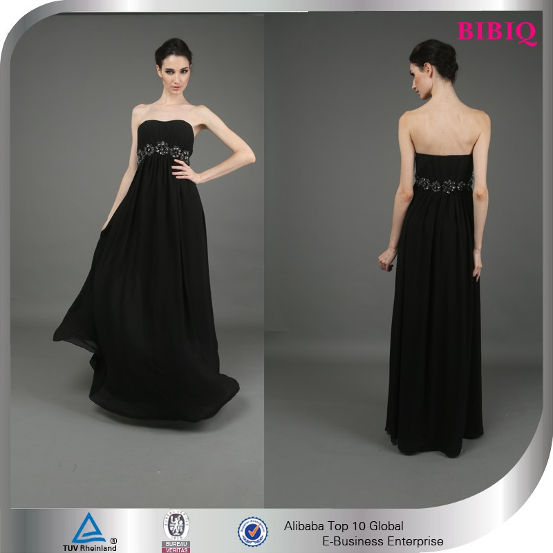 lace applique fluffy cocktail dress sexy pregnant prom dresses black ruffle empire waist maternity wedding dresses