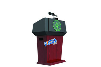Focus L1 wooden digital lectern for conference system