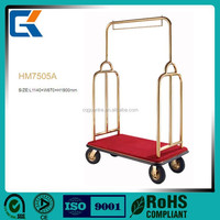 Wholesale Hotel hand Luggage Cart Luggage Trolley Bellman Cart