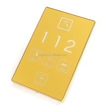 Luxury Elegant Touching Panel Multi-functional Hotel Electronic Doorplate