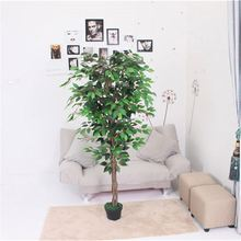 Factory supply evergreen realistic green 1.6m high 1008 leaves bonsai artificial plants decoration tree