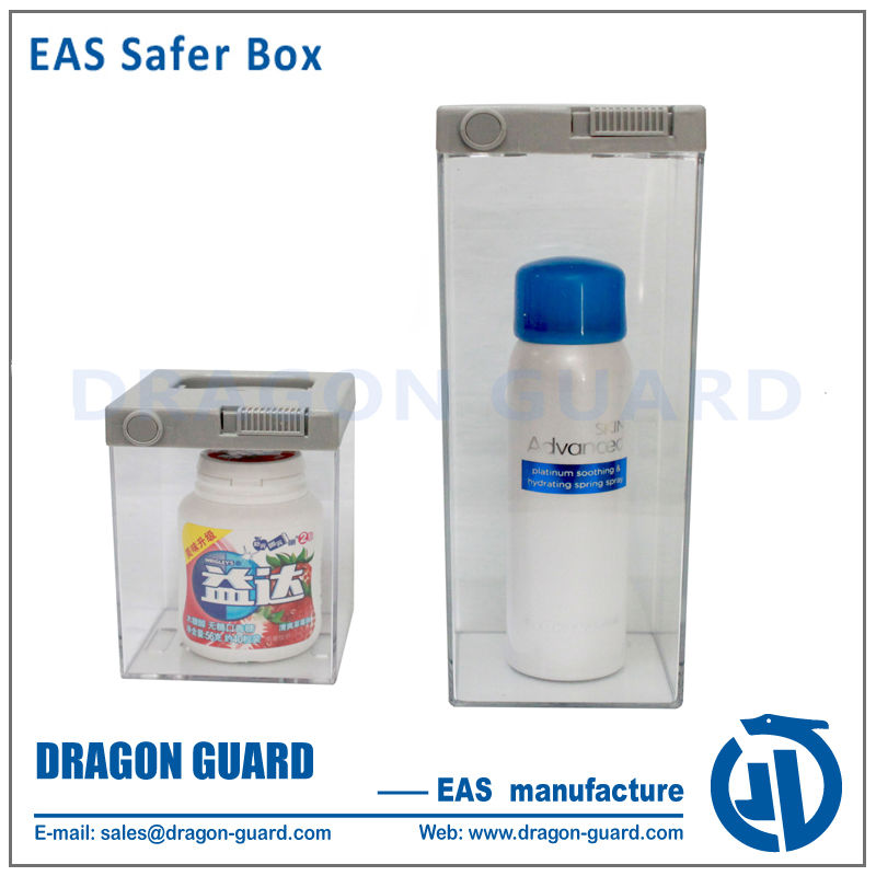 Top quality hot selling security rf am safer box anti theft cosmetic perfume display security safer keeper