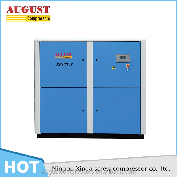 Low noise hot sale frequency conversion oil free screw air compressor