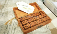 stamps for scrapbooking 30pcs/set Lowercase & Uppercase alphabet stamp set DHL Freeshipping