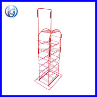 HS-X5 Wire Shelving Grocery Store Bottles DIsplay Department Store Drinks Display Rack